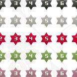 数字アイコン(星型)